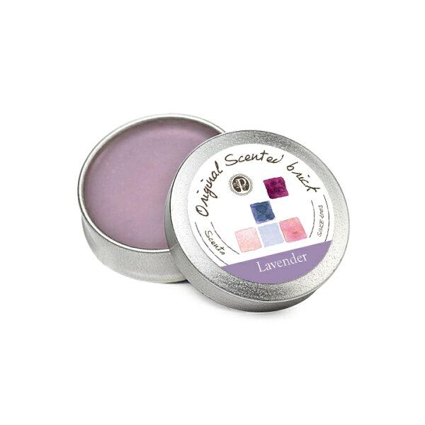 【OP 窩居小徑】Lavender 薰衣草園 精油芳塊香磚-12±2g 隨身盒,純手工製作