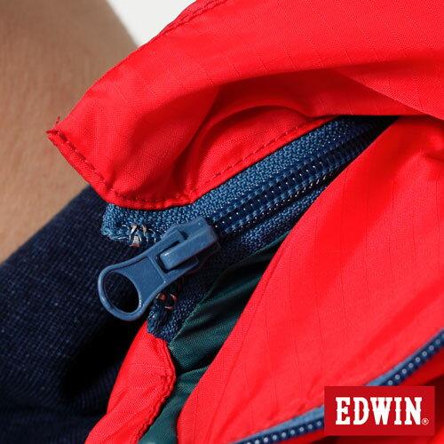 【網路限定款。5折優惠↘】EDWIN 雙色剪接連帽 羽絨外套-男-紅色 3