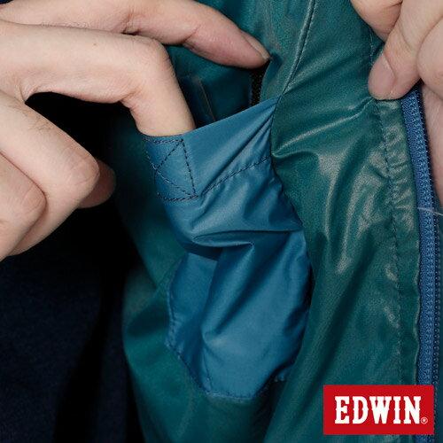【網路限定款。5折優惠↘】EDWIN 雙色剪接連帽 羽絨外套-男-紅色 5