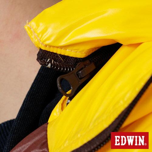 【網路限定款。5折優惠↘】EDWIN 雙色剪接連帽 羽絨外套-男-黃色 3
