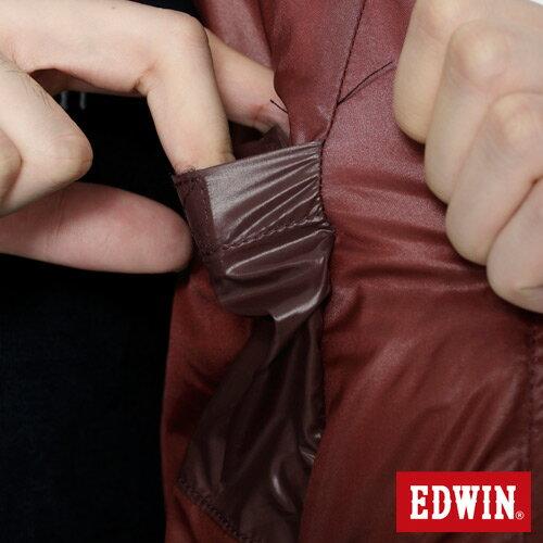 【網路限定款。5折優惠↘】EDWIN 雙色剪接連帽 羽絨外套-男-黃色 5
