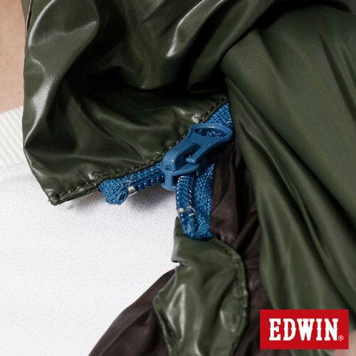 【網路限定款。5折優惠↘】EDWIN 雙色剪接連帽 羽絨外套-男-苔綠 3