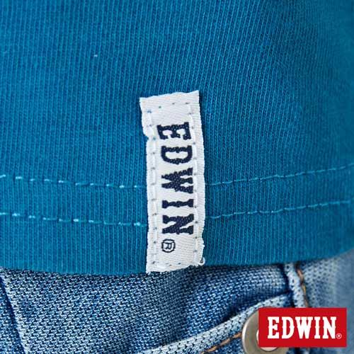 【網路限定款。9折優惠↘】EDWIN 海浪紋E字 短袖T恤-女款 灰藍色 5