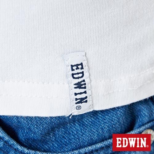 【網路限定款。9折優惠↘】EDWIN 3D幾何圓圖 短袖T恤-女款 白色 5