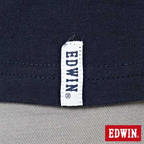 【網路限定款。9折優惠↘】EDWIN 3D裸視E字 短袖T恤-男款 丈青色 5