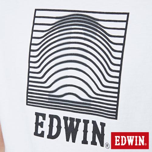 【網路限定款。9折優惠↘】EDWIN 3D裸視E字 短袖T恤-男款 白色 4