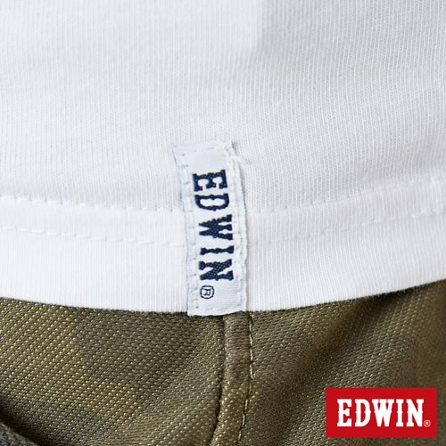 【網路限定款。9折優惠↘】EDWIN 3D裸視E字 短袖T恤-男款 白色 5
