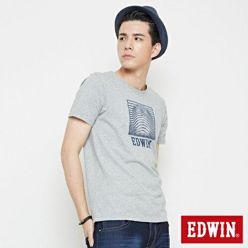 【網路限定款。9折優惠↘】EDWIN 3D裸視E字 短袖T恤-男款 麻灰色 2