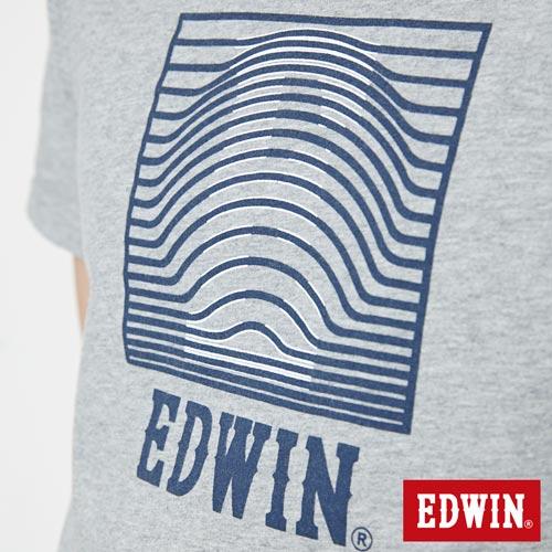 【網路限定款。9折優惠↘】EDWIN 3D裸視E字 短袖T恤-男款 麻灰色 4