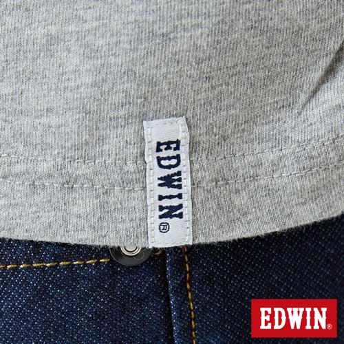 【網路限定款。9折優惠↘】EDWIN 3D裸視E字 短袖T恤-男款 麻灰色 5