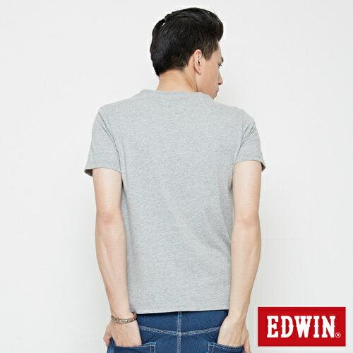 【網路限定款。9折優惠↘】EDWIN 街頭塗鴉LOGO 短袖T恤-男款 麻灰色【單筆2000結帳輸入優惠券代碼161028。現折240元】 1