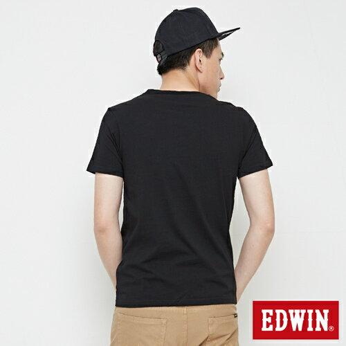 【網路限定款。9折優惠↘】EDWIN 街頭塗鴉LOGO 短袖T恤-男款 黑色 1