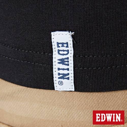 【網路限定款。9折優惠↘】EDWIN 街頭塗鴉LOGO 短袖T恤-男款 黑色 5