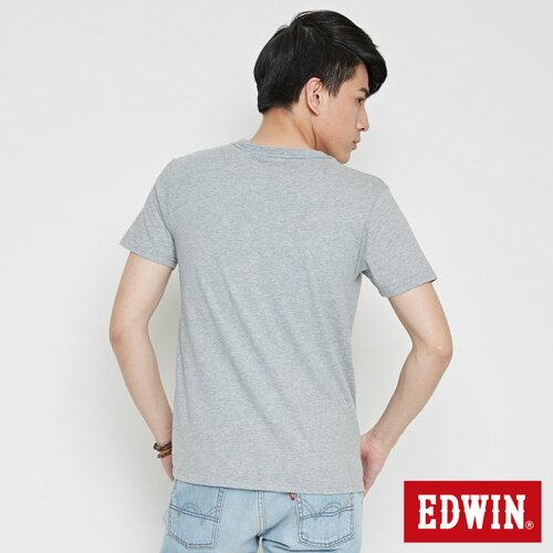 【網路限定款。9折優惠↘】EDWIN 九宮格疊影 短袖T恤-男款 麻灰色 1