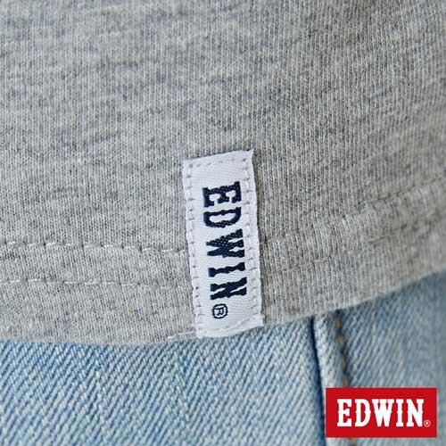 【網路限定款。9折優惠↘】EDWIN 九宮格疊影 短袖T恤-男款 麻灰色 5