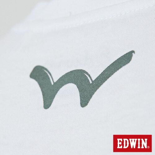 【網路限定款。9折優惠↘】EDWIN 限定配色立方ED 短袖T恤-男款 白色 5