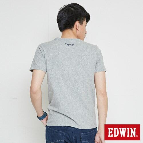 【網路限定款。9折優惠↘】EDWIN 限定配色立方ED 短袖T恤-男款 麻灰色【單筆2000結帳輸入優惠券代碼161021-3。現折240元】 1