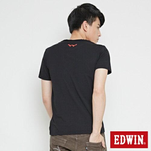 【網路限定款。9折優惠↘】EDWIN 限定配色立方ED 短袖T恤-男款 黑色【單筆2000結帳輸入優惠券代碼161021-3。現折240元】 1
