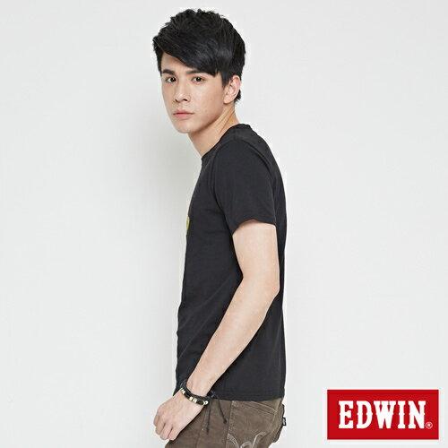 【網路限定款。9折優惠↘】EDWIN 限定配色立方ED 短袖T恤-男款 黑色【單筆2000結帳輸入優惠券代碼161021-3。現折240元】 2