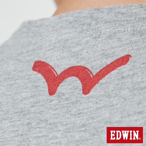 【網路限定款。9折優惠↘】EDWIN 立體錯位圖形 短袖T恤-男款 麻灰色【單筆899結帳輸入優惠券代碼ShoppingFestival-2。現折100元】 5