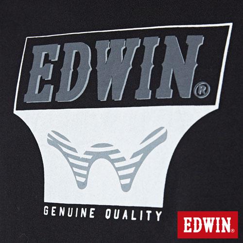 【網路限定款。9折優惠↘】EDWIN 翻玩經典雙LOGO 短袖T恤-男款 黑色【單筆899結帳輸入優惠券代碼ShoppingFestival-2。現折100元】 4