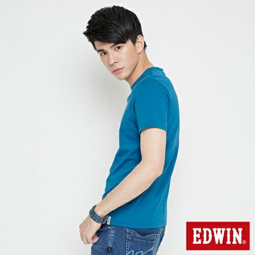 【網路限定款。9折優惠↘】EDWIN 三角漩渦幾何圖 短袖T恤-男款 灰藍色 2