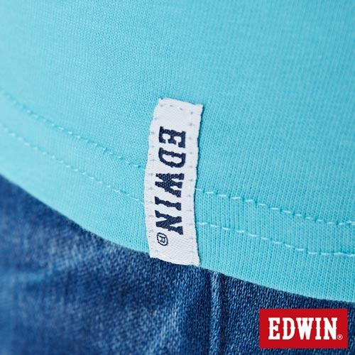 【網路限定款。9折優惠↘】EDWIN 立體夾心ED 短袖T恤-女款 水藍色【單筆2000結帳輸入優惠券代碼161021-5。現折240元】 5