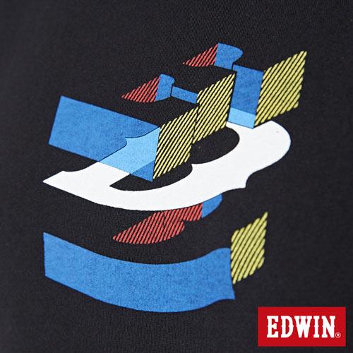 【網路限定款。9折優惠↘】EDWIN 立體夾心ED 短袖T恤-女款 黑色【單筆2000結帳輸入優惠券代碼161028。現折240元】 4