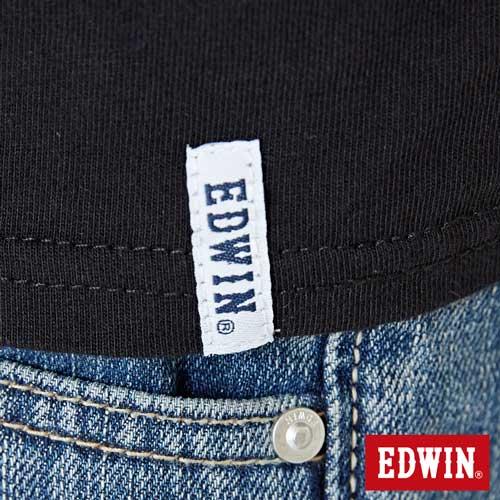 【網路限定款。9折優惠↘】EDWIN 立體夾心ED 短袖T恤-女款 黑色【單筆2000結帳輸入優惠券代碼161028。現折240元】 5