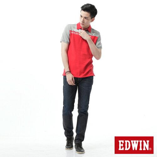 【週年慶。8折優惠↘】EDWIN 505桔布邊生地窄管牛仔褲-男-原藍磨 2