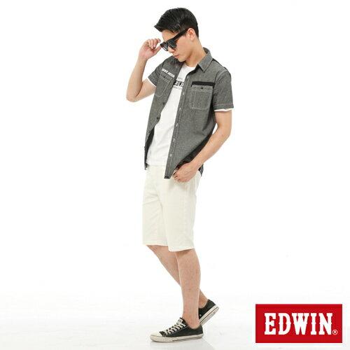 【9折優惠↘】EDWIN JERSEYS迦績內藏腰頭彩色短褲-男-白色 2