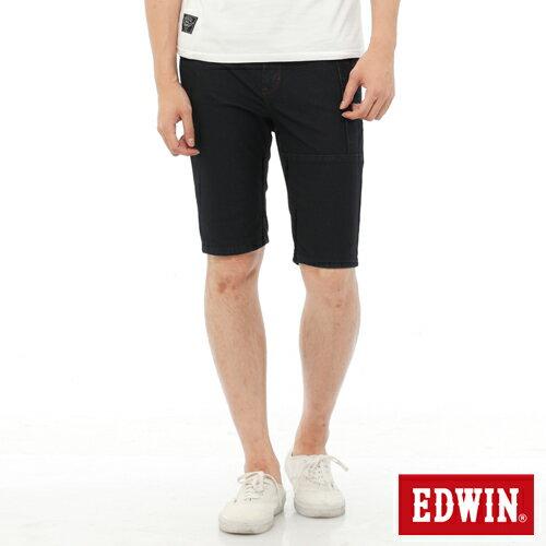【1290元優惠↘】EDWIN JERSEYS迦績工作牛仔短褲-男-原藍色 0