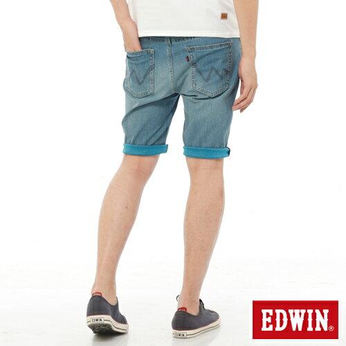 【1290元優惠↘】【大尺碼】EDWIN JERSEYS迦績內藏腰頭牛仔短褲-男-中古藍 0