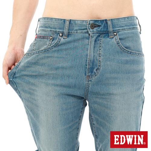【1290元優惠↘】【大尺碼】EDWIN JERSEYS迦績內藏腰頭牛仔短褲-男-中古藍 3