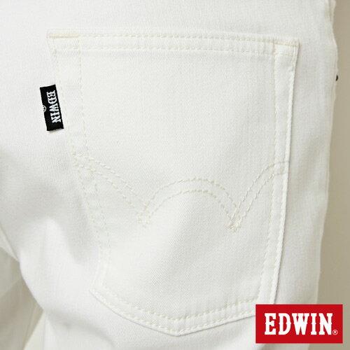 【9折優惠↘】EDWIN 503 COOL快乾五袋式 基本短褲-男款 白色 8