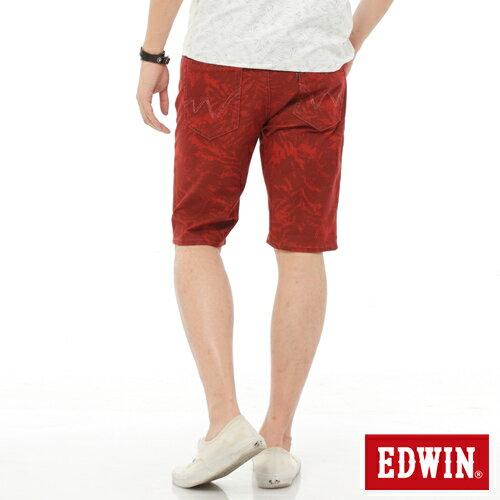 【1290元優惠↘】EDWIN JERSEYS迦績超彈力印花短褲-男-暗桔 1