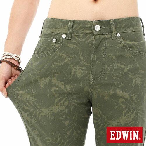 【1290元優惠↘】EDWIN JERSEYS迦績超彈力印花短褲-男-橄欖綠 3