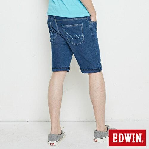 【9折優惠↘】【大尺碼】EDWIN JERSEYS迦績極涼寬短褲-男款 石洗綠 1
