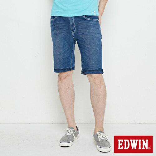 【週年慶。8折優惠↘】EDWIN JERSEYS迦績極涼寬短褲-男款 石洗綠 1