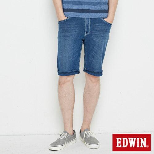 【9折優惠↘】【大尺碼】EDWIN JERSEYS迦績極涼寬短褲-男款 石洗綠 0