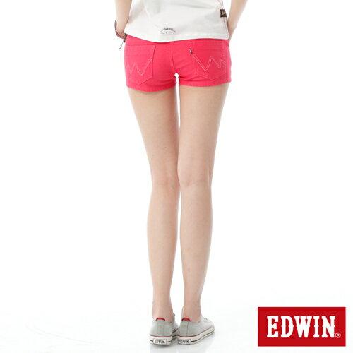 【1290元優惠↘】EDWIN JERSEYS迦績彩色超短褲-女-玫瑰粉 1