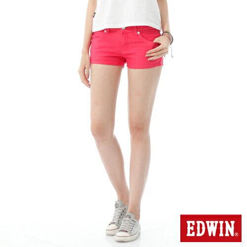 【1290元優惠↘】EDWIN JERSEYS迦績彩色超短褲-女-玫瑰粉 0