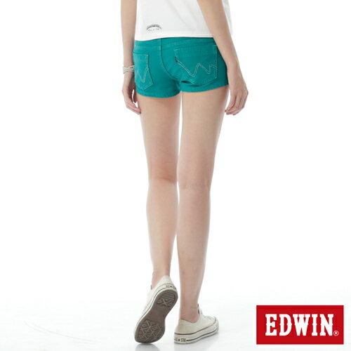 【1290元優惠↘】EDWIN JERSEYS迦績彩色超短褲-女-綠色 1