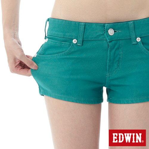【1290元優惠↘】EDWIN JERSEYS迦績彩色超短褲-女-綠色 3