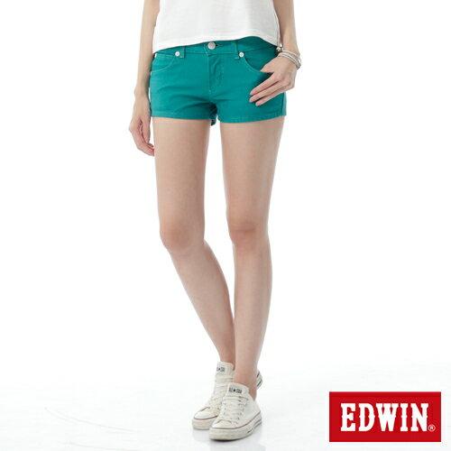 【1290元優惠↘】EDWIN JERSEYS迦績彩色超短褲-女-綠色 0