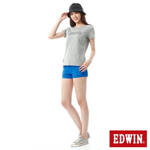 【1290元優惠↘】EDWIN JERSEYS迦績彩色超短褲-女-藍色 2