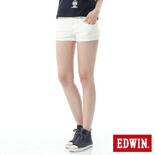 【1290元優惠↘】EDWIN JERSEYS迦績彩色超短褲-女-白色 0