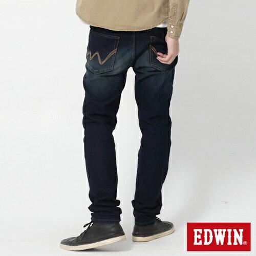 【週年慶。8折優惠↘】【大尺碼】EDWIN JERSEYS 迦績圓織牛仔褲-男款 原藍磨 0