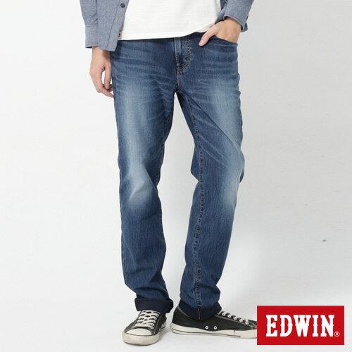 【週年慶。8折優惠↘】EDWIN JERSEYS 迦績進化款 圓織牛仔褲-男款 石洗綠 0