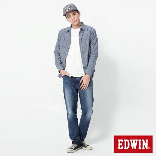 【週年慶。8折優惠↘】EDWIN JERSEYS 迦績進化款 圓織牛仔褲-男款 石洗綠 2
